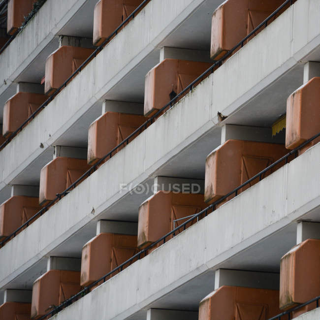 Building exterior, architecture construction with balconies — Stock Photo