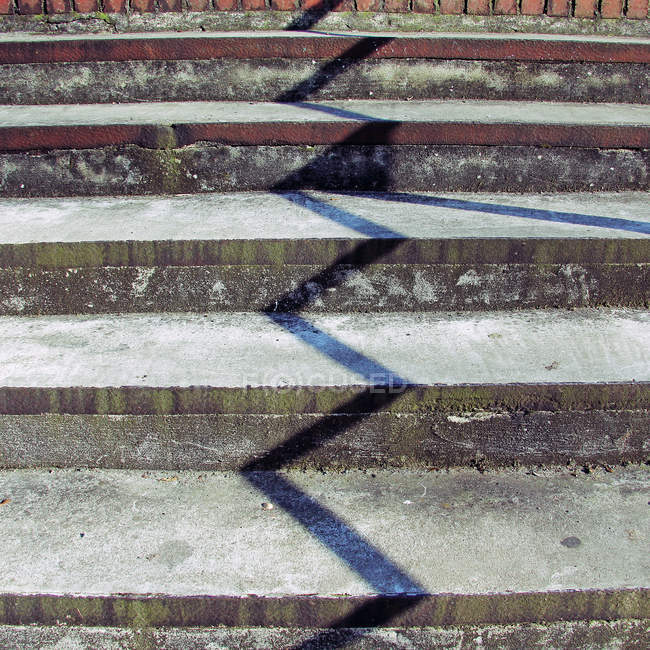 Cropped view of urban street staircase — Stock Photo
