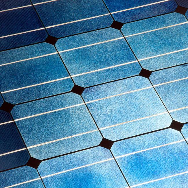 Blue solar power technology — Stock Photo