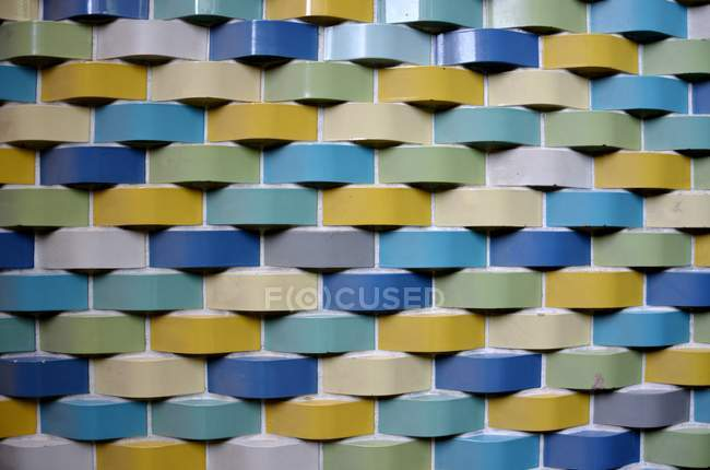 Close-up view of colorful bricks wall — Stock Photo