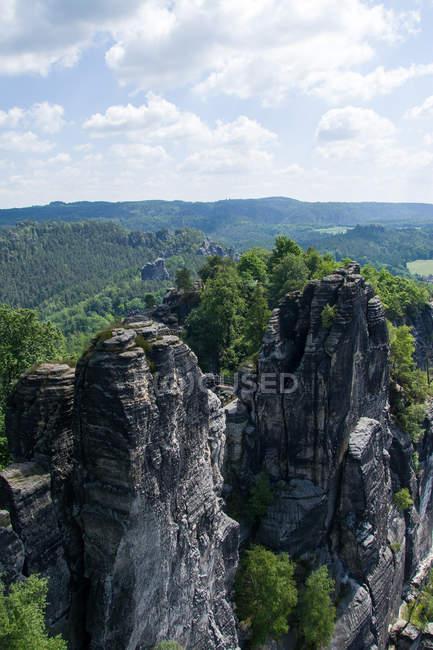 Elbsandsteingebirge — Photo de stock