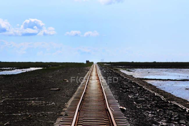 Chemin de fer à sel pré — Photo de stock