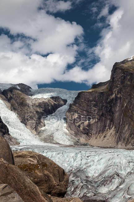 Austerdalsbreen glacier, Norway — Stock Photo