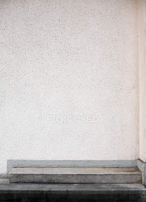 White building facade structure and stairs — Stock Photo