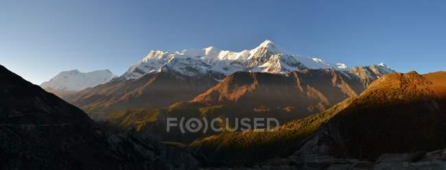 Paesaggio in montagne dell'Annapurna — Foto stock
