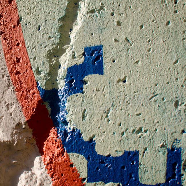 Крупным планом вид краски картины на стене — стоковое фото