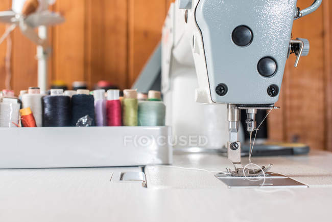Close-up sewing machine — Stock Photo