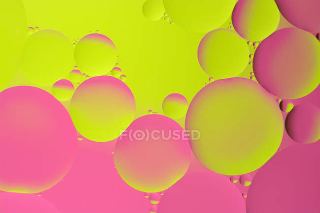 Colorful abstract view of liquid bubbles — Stock Photo