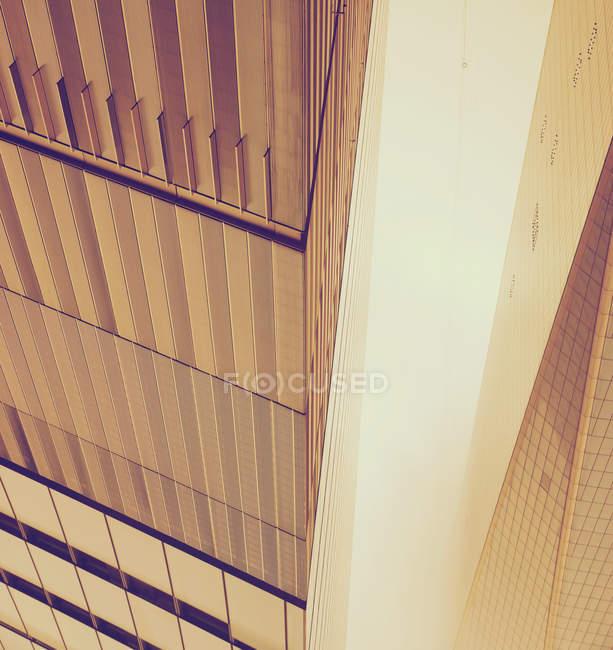 Vista parcial do edifício moderno detalhes — Fotografia de Stock