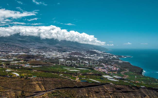 Aerial view of La Palma island landscape, Canary Islands, Spain — Stock Photo