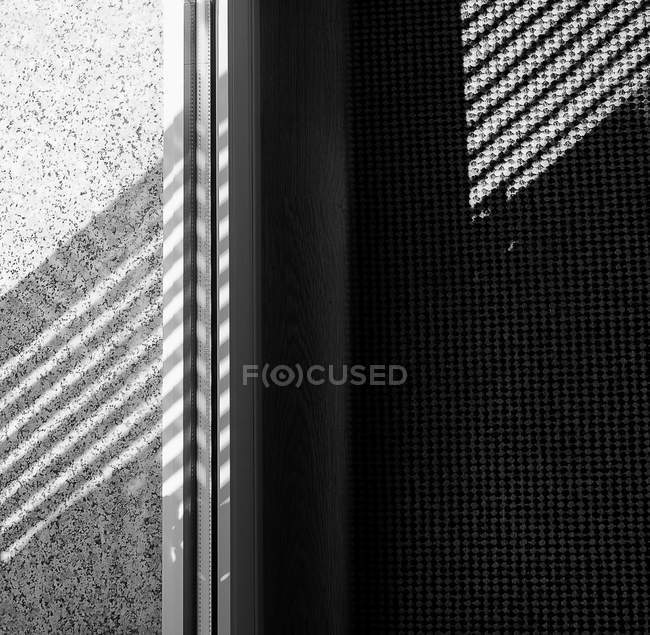 Gray window board with shadows — Stock Photo