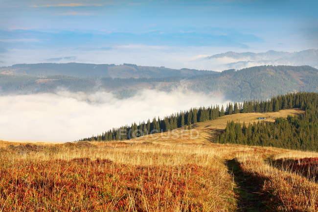 Paisaje de montaña giumalau - foto de stock