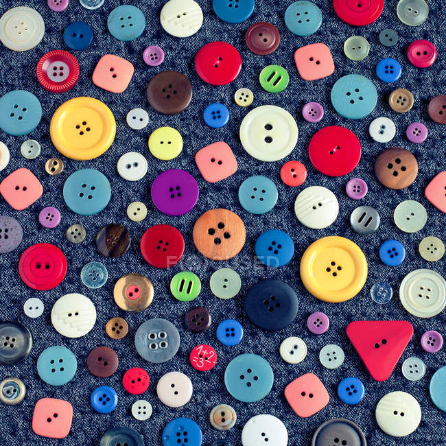 Various colorful buttons — Stock Photo