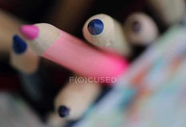 Деревянные карандаши для искусства, макросъемки — стоковое фото