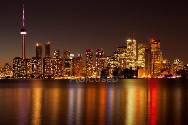 Toronto skyline at night — Stock Photo