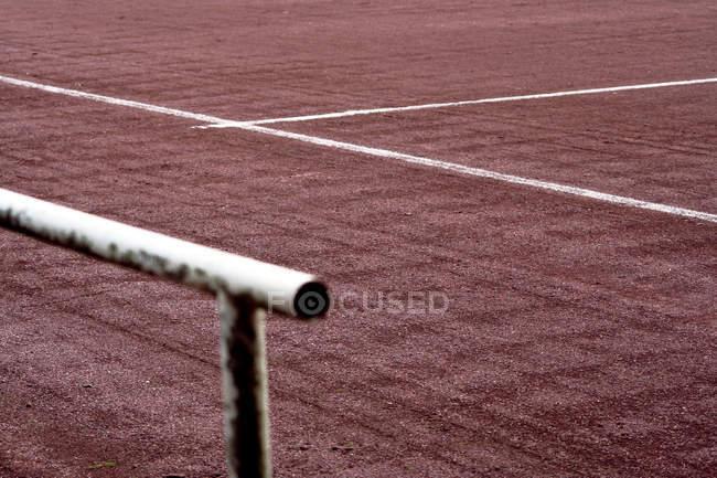 Parte del campo de fútbol en monocromo - foto de stock