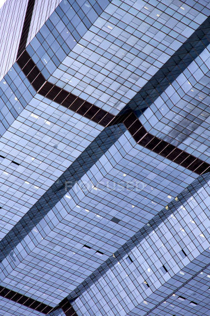 Aerial tilted view of glass skyscrapers in Bangkok, Thailand — Stock Photo