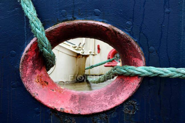 Détails sur le pont du bateau — Photo de stock