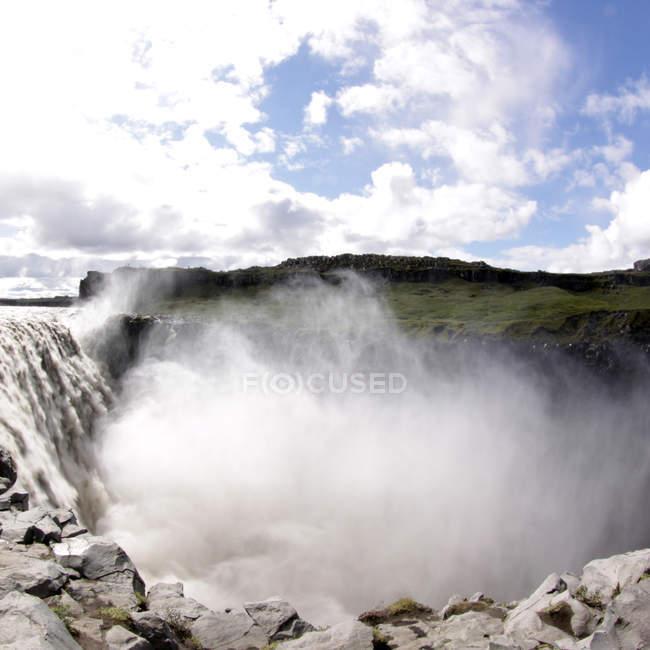 Вид на Водопад Годафосс — стоковое фото