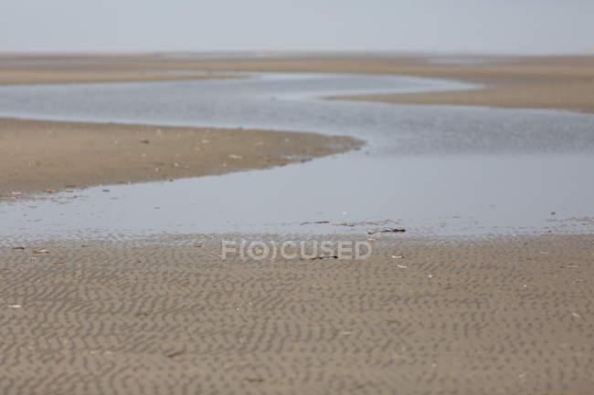 Seashore landscape with sandy beach — Stock Photo