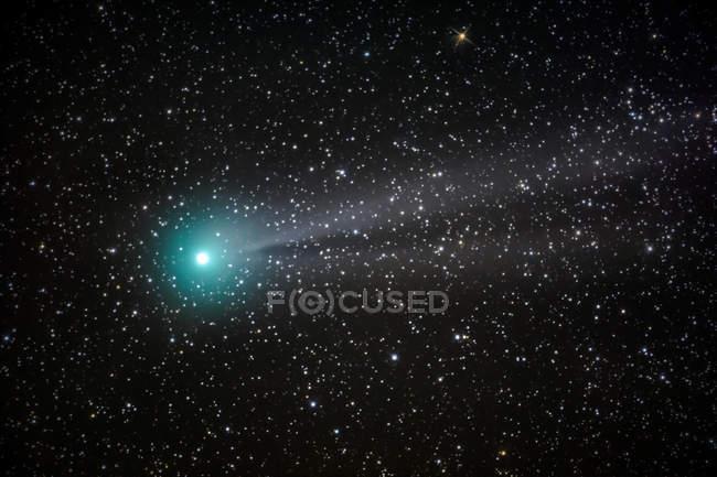 Stars in night sky, shiny bright star — Stock Photo
