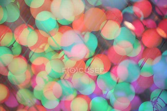 Colorful painted round circles art figures — Stock Photo