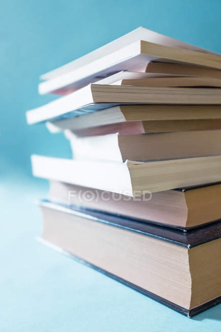 Books stacked on top of each other — Stock Photo