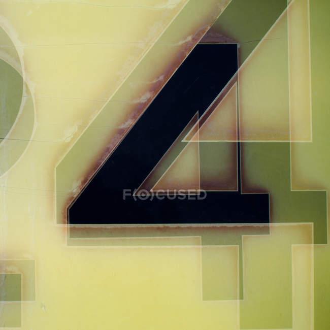 Абстрактный красочные стильным геометрические фон с номером 4 — стоковое фото