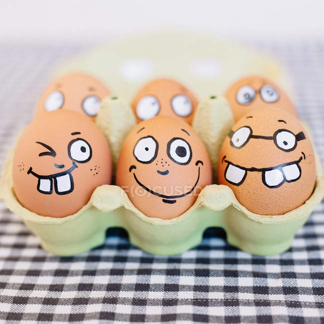 Eggs in the cardboard box — Stock Photo