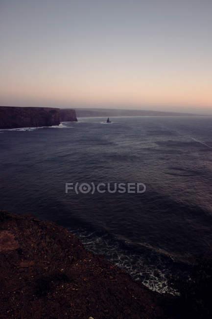 Vista da costa do Algarve — Fotografia de Stock