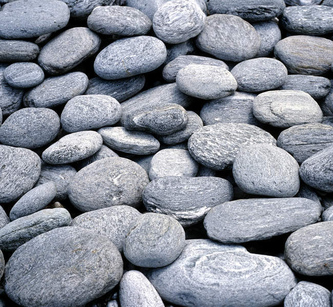 Vista diurna das rochas de pedra cinza — Fotografia de Stock