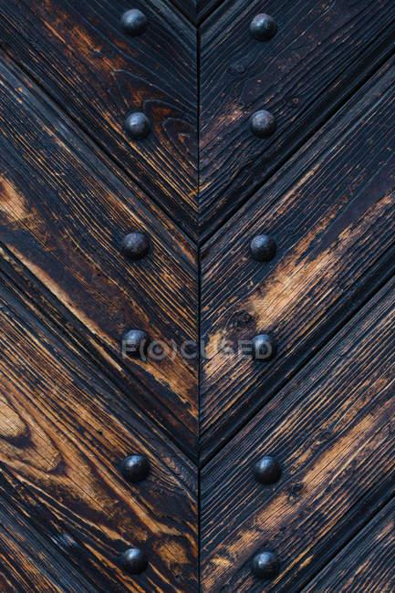 Close-up de detalhes da porta de madeira — Fotografia de Stock