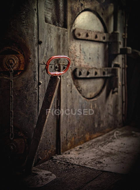 Machinery train compartment Switch lever — Stock Photo