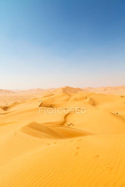 Dune de sable dans les vieux désert oman — Photo de stock