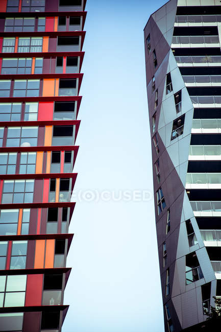 Exterior shot of buildings facade — Stock Photo