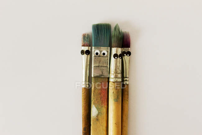 Paint brushes isolated on white background — Stock Photo