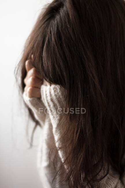 Frustrated woman, melancholy and depression concept — Stock Photo