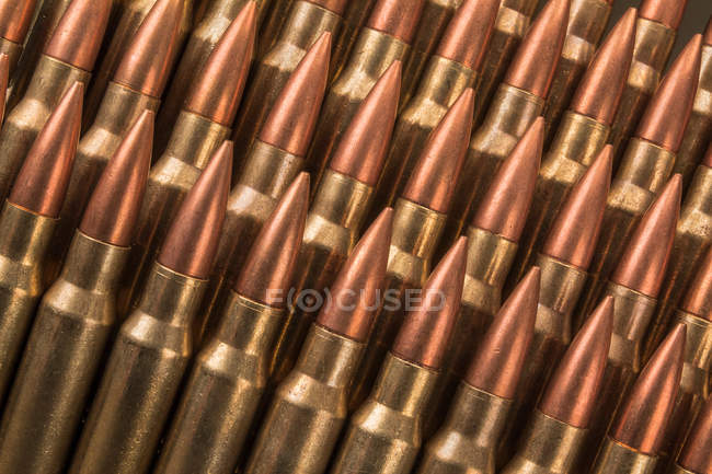 Military weapon bullets, full frame — Stock Photo
