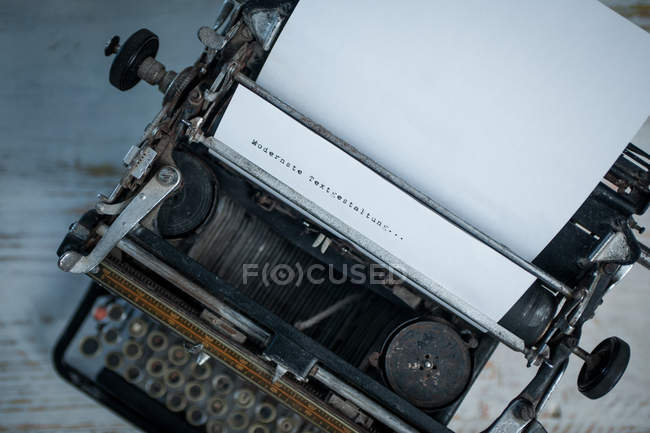 Keyboard of old typewriter — Stock Photo