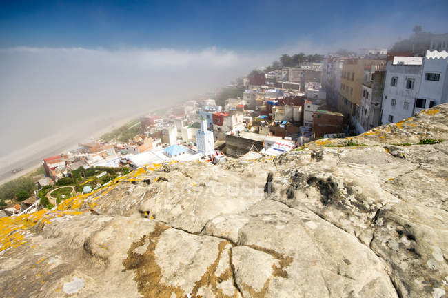 Высокий угол зрения древней архитектуры в Марокко — стоковое фото