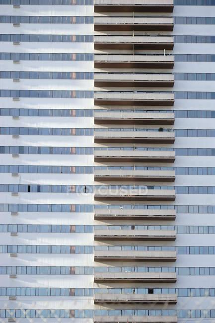 Edifício de arquitectura moderna, detalhes — Fotografia de Stock