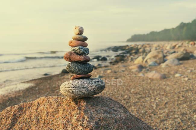 Pyramid of several stones — Stock Photo