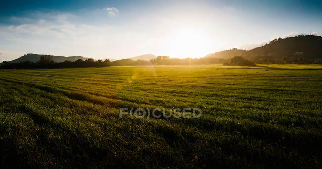 Nature landscape with scenic field view — Stock Photo