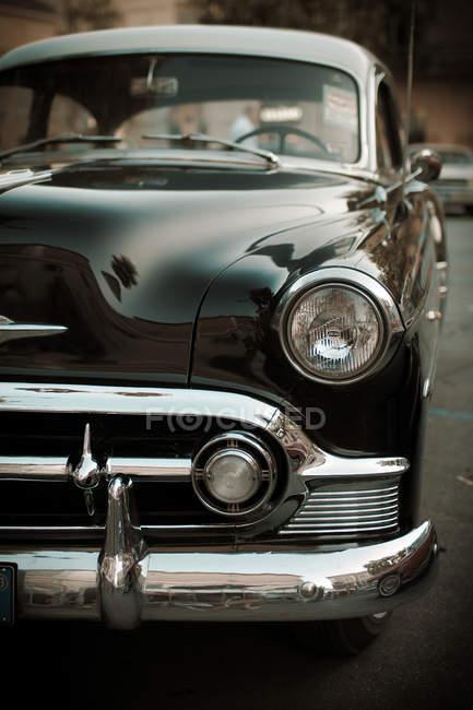 Vista de cerca detalles automóvil retro, la Habana - foto de stock