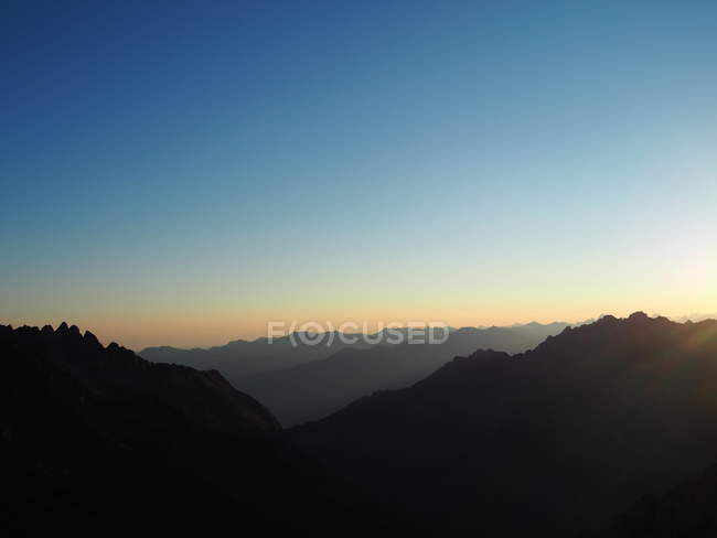 Mountains scenery at the evening — Stock Photo