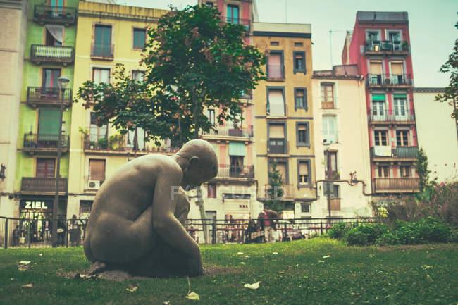 Sculpture of child, Barcelona — Stock Photo
