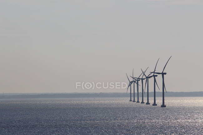 Wind mills in the sea at daytime — Stock Photo