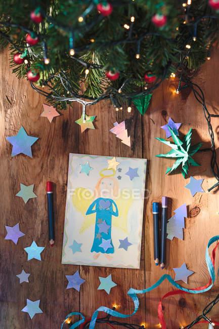 Hand gezeichneten Weihnachtskarte — Stockfoto