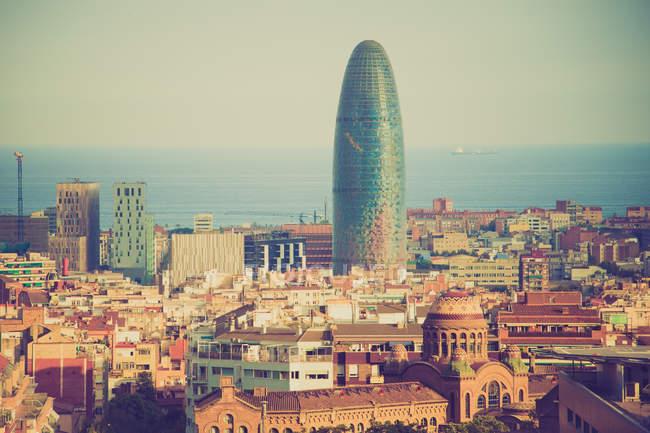 Veduta aerea della città di Barcellona — Foto stock