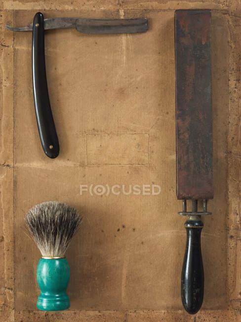Strumenti di rasatura maschio, rasoio — Foto stock